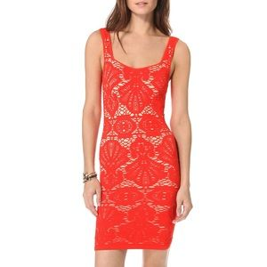 free people red bodycon medallion dress